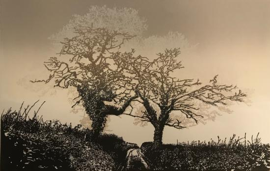 Two Trees, South Hams (Brown sky edition)
